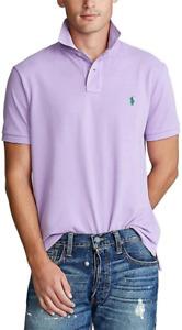 Polo Ralph Lauren Purple Basic Mesh Short Sleeve Custom Fit Polo,L