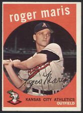 1959 TOPPS BASEBALL ~ #202 ~ ROGER MARIS ~ PERFECT PRINTING ~ SECOND CARD