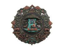 Estatua Buda Dhyani Mandala Tibetano Pintado en La Manual De Resina 21cm