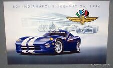 1996 Dodge Viper GTS Indy 80th Indy 500 Pace Car Poster Original NOS