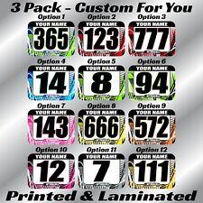 Atv Number Plate Decal Stickers Custom Name Motocross Race Mx Sx Atv Ama Rmz Rm