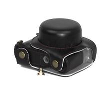 VANO BATTERIA borsa macchina fotografica custodia per Panasonic DMC-GF7 NERA