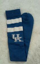 Kentucky Wildcats NCAA Thin Knee High Two Stripes Blue White Socks
