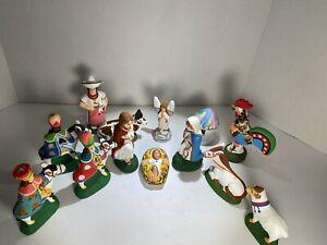 Mexican Chalkware Plaster Nativity Set