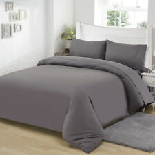 Microfiber Fabric Quilted Cover Set Plain Color Bedding Set Many Sizes