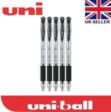 Uni-ball Signo UM151 0.38mm Fine Tip Gel Comfort Grip Rollerball Black 5