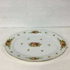 """Royal Albert """"Old Country Roses Holiday"""" Christmas Serving Tray Gold Trim #904"""