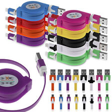 100cm Universal retractil Micro USB cargador Cable de datos Sync para teléfon