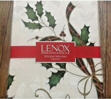 NEW 🎄 LENOX 60 X 120 inch Rectangle Christmas Holiday Nouveau Fabric Tablecloth