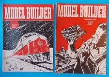 LOT OF TWO MODEL BUILDER MAGAZINES JANUARY AND FEBRUARY 1944