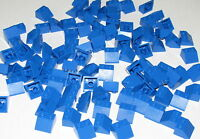 LEGO LOT OF 100 NEW BLUE SLOPE 45 2 X 2 SLOPED BRICKS BLOCKS PIECES