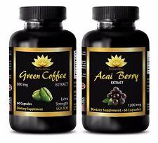 Weight loss supplements - ACAI BERRY – GREEN COFFEE GCA800 COMBO - acai fiber