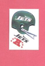 1983 Kellogg's NEW YORK JETS NFL Helmet Sticker Blank Back Version