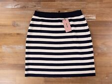 MIU MIU navy blue striped wool knit skirt authentic - Size 44 IT / 8 US - NWT