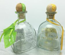 Lot Of 2 Patron Tequila Bottles Anejo Gold & Silver Patron Empty Corks 750 ML
