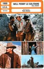 FICHE CINEMA : WILL PENNY LE SOLITAIRE - Heston,Hackett,Pleasence,Gries 1968
