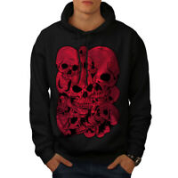 Wellcoda Goth Metal Death Skull Mens Hoodie, Indian Casual Hooded Sweatshirt