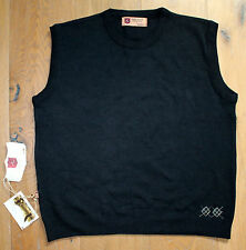 ILIAC GOLF Men's Large Black Crew Neck Vest ORGANIC BAMBOO Well Made in USA New