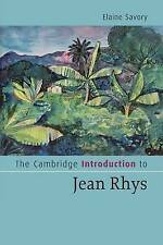 The Cambridge Introduction to Jean Rhys by Elaine Savory (Paperback, 2009)