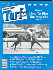 American Turf Monthly October 1984 How To Play The Pick-Six EX 022616jhe