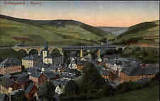 Ludwigsstadt Bayern alte Postkarte ~1910 Panorama Brücke Verlag Julius Escherich
