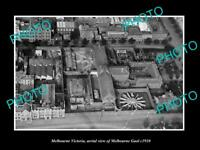 OLD POSTCARD SIZE PHOTO OF MELBOURNE VICTORIA AERIAL VIEW OF THE GAOL c1910