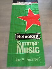 "Vintage Heineken Summer Music Large Banner Flag 100"" x 36"""