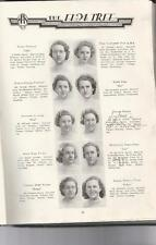 """1937 NEW HAVEN/HILLHOUSE HIGH SCHOOL YEARBOOK, ELM TREE NEW HAVEN, CONN """"AS IS"""""""