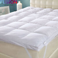 Luxury Duck Feather & Down Mattress Topper Enhancer Bed Hotel Quality 5 CM Deep