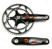 Ergomo Carbon Crankset 172.5mm 53/39 Square Taper Road Bike NOS