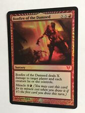 Mtg Magic the Gathering Avacyn Restored Bonfire of the Damned FOIL