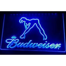 Budweiser Dancer LED Neon Bar Sign Home Light up Pub Bud Beer Lager Drink Exotic