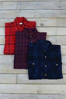 Vintage Overdyed Renewal Checked Flannel Shirts Long Sleeved XS,S,M,L,XL,XXL