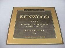Wine Label: KENWOOD 1997 Upper Weise Organically Grown Zinfandel Sonoma CA
