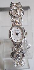 SILVER FINISH METAL BAND TOGGLE CLOSURE WOMAN'S FASHION DRESSY/CASUAL WATCH