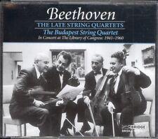 BEETHOVEN - Late String Quartets 12-16 - THE BUDAPEST STRING QUARTET - 3CDs
