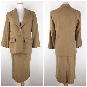 Womens Pendleton Size 14 100% Virgin Wool Pencil Skirt Blazer Jacket 2 Piece Set