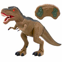 BCP 19in Kids Walking RC Remote Control T-Rex Dinosaur Toy w/ Lights, Sounds
