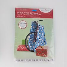 Christmas Gift Bag Jumbo Snowman Cord Tie Tag Wrap Extra Large Gifts Kid Bikes