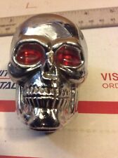 Chrome Skull with Red Eyes Gear Shift Knob for  Column and  Floor Shifter