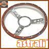 """15"""" astrali® Semi Dished Classic Car Wood Rim Steering Wheel Fits Moto Lita Boss"""