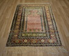 EXTREMELY RARE! 1880's Antique Turkish Ghiordes Silk Carpet Collector's Museum