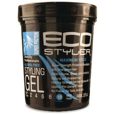 [ECO STYLER] STYLING GEL SUPER PROTEIN BLACK *MAXIMUM HOLD* 32OZ