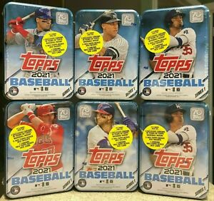 2021 Topps Series 1 Baseball Sealed Collector's Tins Choose Trout Judge Acuna ++