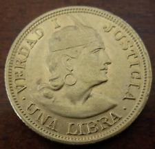 Peru 1917 Gold Libra (Pound) Unc