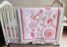 New Baby Girls Boys 7 Pieces Cotton Nursery Bedding Crib Cot Sets