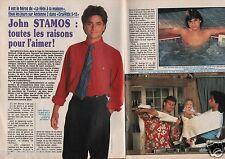 Coupure de presse Clipping 1990 John Stamos  (3 pages)
