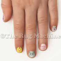FINGERNAIL FRIENDS - Farm Animals - Nails Stickers for Kids Fun Gift Play **NEW*