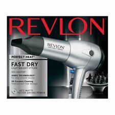 Revlon Perfect Heat Fast Dry Speed Hair Dryer Lightweight Styler Ionic Tech.