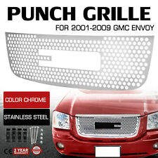 Fits Gmc Envoy 2001-2009 Round Holed Grille Stainless Steel Main Upper Grill (Fits: Gmc Envoy)